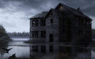 haunted-house-in-the-woods