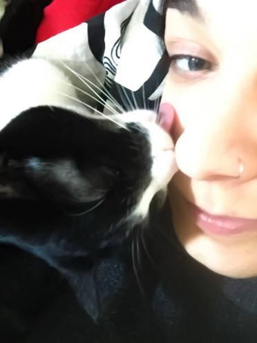 Laura e la sua adorata micia
