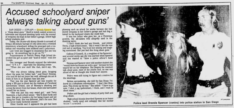 Accused schoolyard sniper 'always talking about guns',